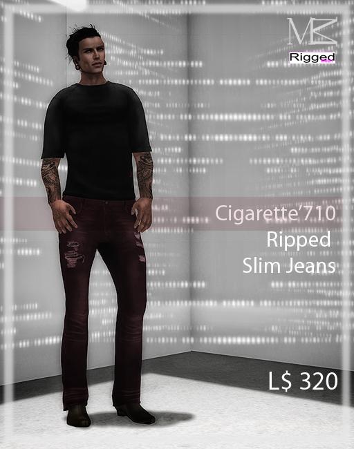 Miamai_Cigarette'710 Jeans Rip_playbill