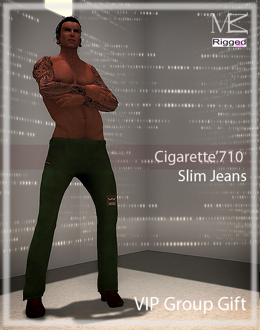 Miamai_Cigarette'710 Jeans_Lime VIP GIFT playbill