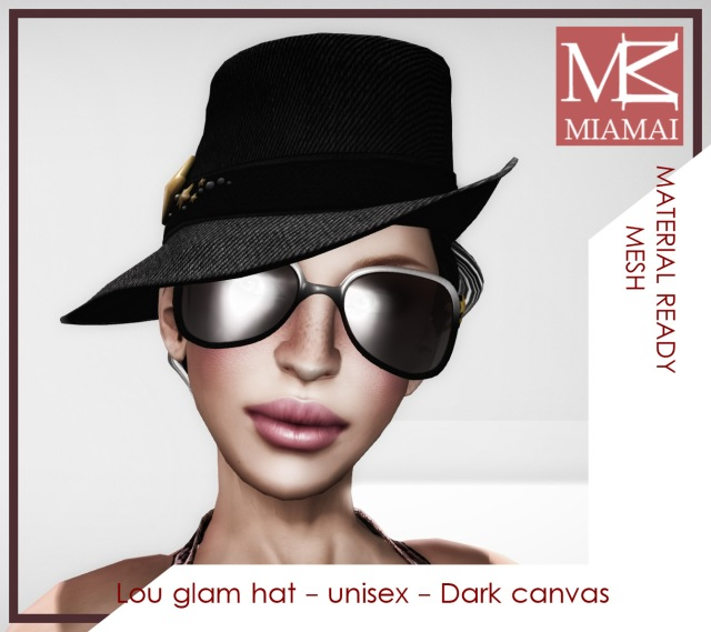 MIAMAI_Lou glam hat - unisex - Dark