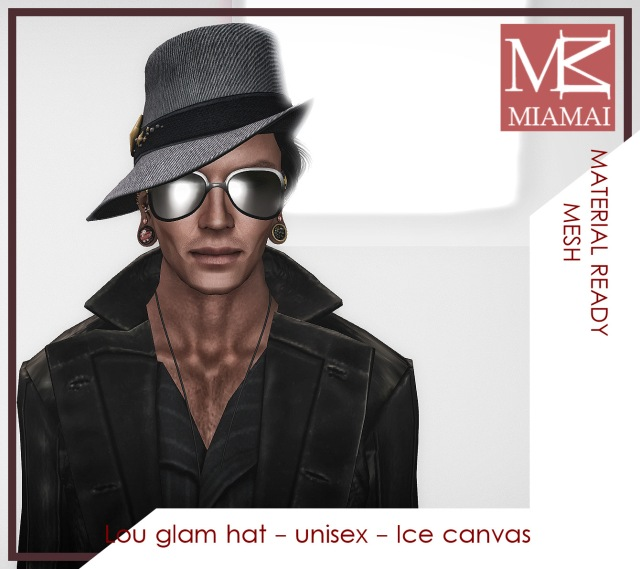 MIAMAI_Lou glam hat - unisex - Ice