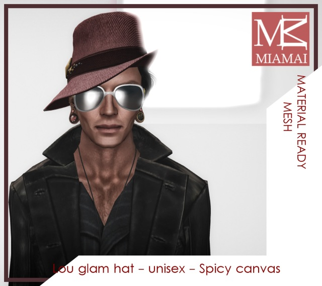 MIAMAI_Lou glam hat - unisex - Spicy