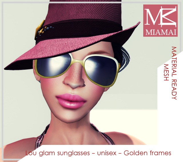 MIAMAI_Lou glam sunglasses - Golden