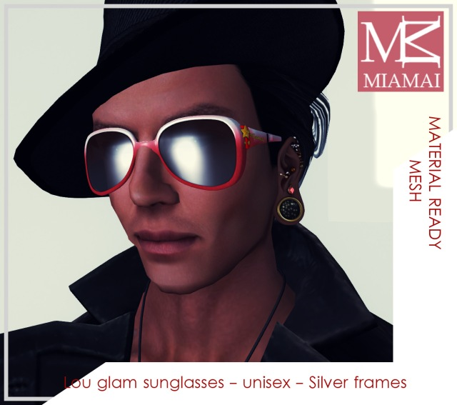 MIAMAI_Lou glam sunglasses - Red