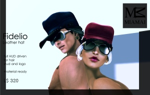 MIAMAI_Fidelio leather hat - faMESHed