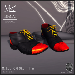 Miamai_[BL] - Miles-Oxford cap toe - fire