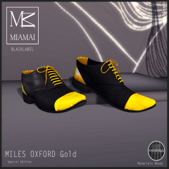 Miamai_[BL] - Miles-Oxford cap toe - golden