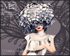 TITANIA Headpiece White