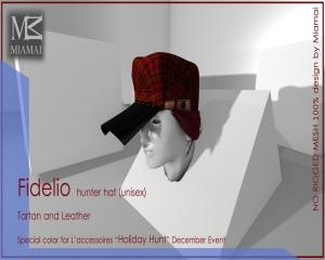 Holiday Hunt December L'accessoires Fidelio hunter hat