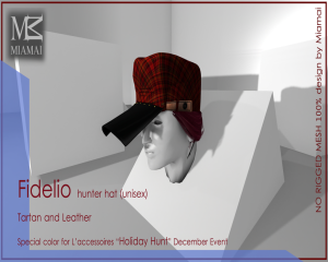 Holiday Hunt December L'accessoires Fidelio hunter hat
