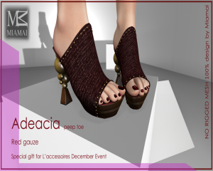 SPECIAL GIFT L'accessoires December Event Adeacia red gauze