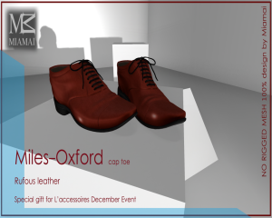 SPECIAL GIFT L'accessoires December Event Miles-Oxford roufus