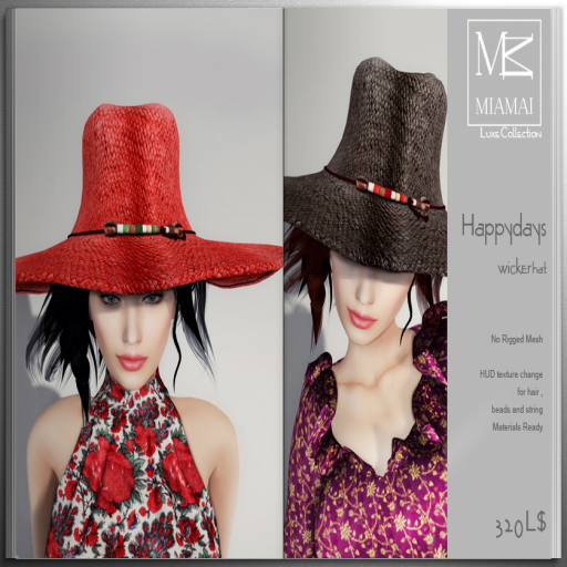 Miamai_Happydays wicker hat - ADS
