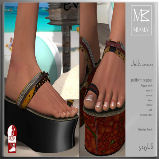MIAMAI_Jelly summer platform slipper_ADS
