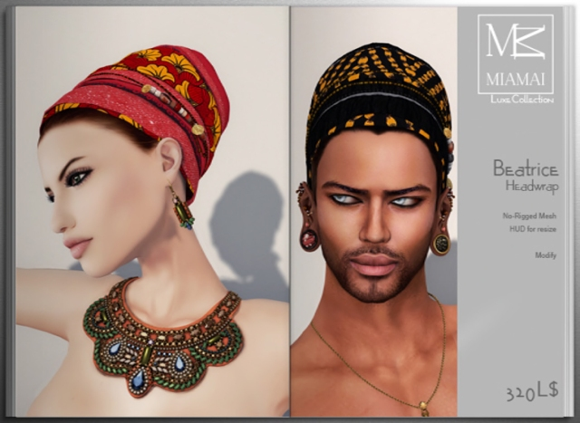 Miamai_Beatrice headwrap unisex - ADS