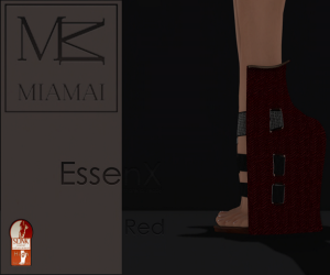 MIAMAI_EssenX pumps - Red (Slink High) ADS