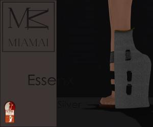 MIAMAI_EssenX pumps - Silver (Slink High) ADS