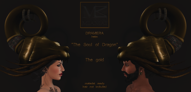Miamai_Dramera helm_The soul of Dragon - The gold - ADS