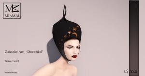 Miamai_Goccia Hat - Starchild - Brass_ADS