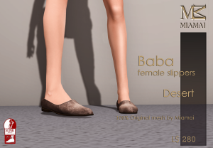 Miamai_Baba female Slippers_Desert_Ads