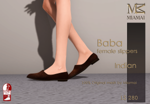 Miamai_Baba female Slippers_Indian_Ads