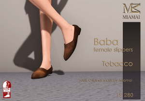 Miamai_Baba female Slippers_Tobacco_Ads