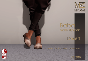 Miamai_Baba male Slippers_Desert_Ads