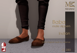 Miamai_Baba male Slippers_Indian_Ads