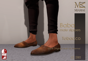 Miamai_Baba male Slippers_Tobacco_Ads