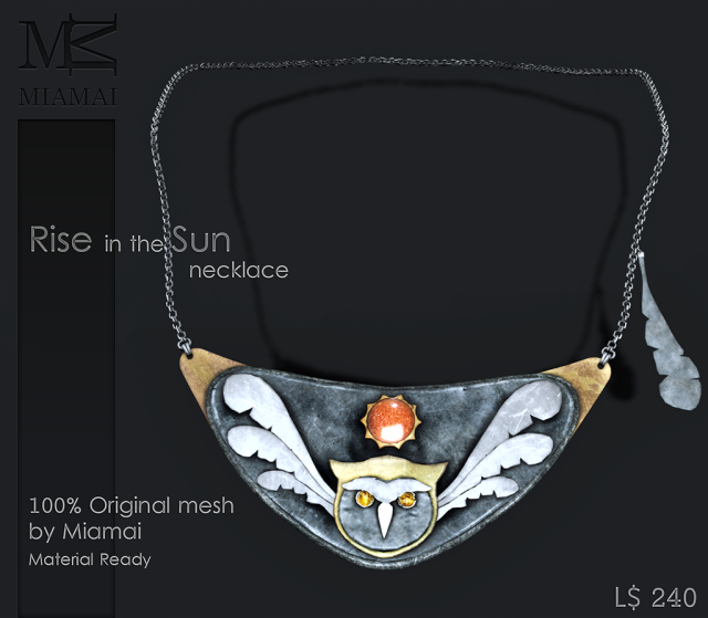 Miamai_Rise in the Sun necklace - The Secret Affair May 2015 - ADS2