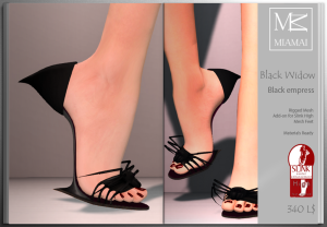 Miamai_BlackWidow_Black empress shoes (Slink high) ADs