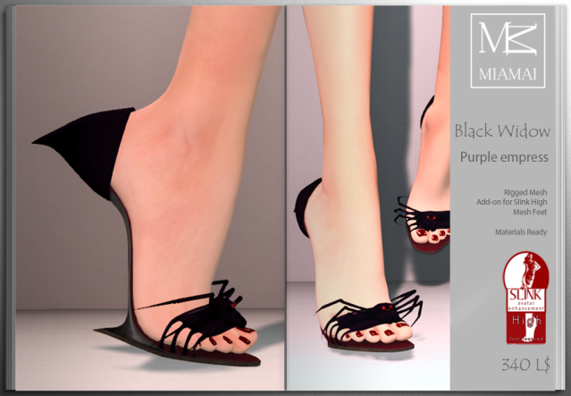 Miamai_BlackWidow_Purple empress shoes (Slink high) ADs