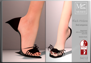 Miamai_BlackWidow_Red empress shoes (Slink high) ADs