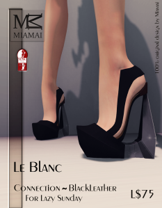 Miamai_Le Blanc - Connection Black Leather (Slink high) ADs