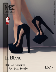 Miamai_Le Blanc - Heel Cyan Free (Slink high) ADs