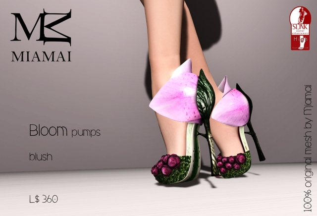 Miamai_Bloom pumps - blush (Slink high) ADs [4235553]