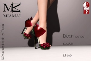 Miamai_Bloom pumps - passion (Slink high) ADs [4235554]