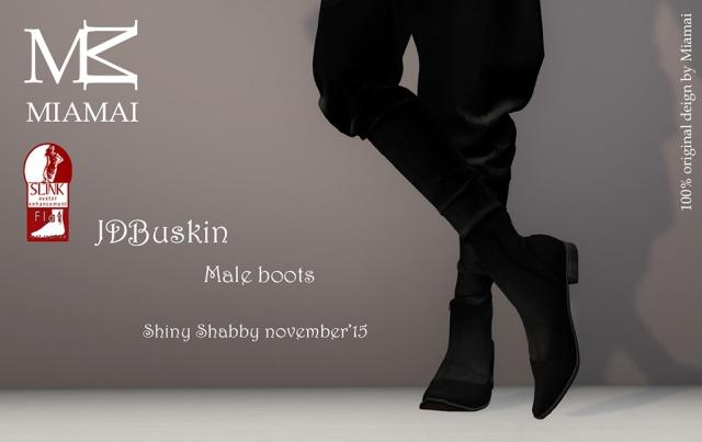 Miamai_JDBuskin boots (Male Slink flat) Shiny Shabby november'15 [567013]
