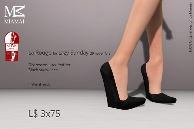 Miamai_La Rouge - for Lazy Sunday 29-11 - Distressed Black (Slink high) [1689535]