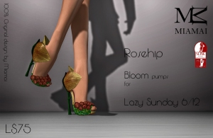 Miamai_Bloom pumps - rosehip - Lazy Sunday 6 dicembre (Slink high) key [2266787]