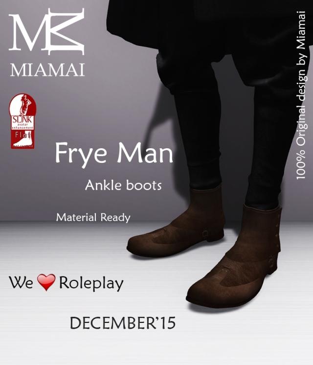 Miamai_FryeMan AnkleBoots (Male Slink flat) AD