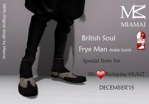Miamai_FryeMan AnkleBoots - WLRP HUNT #37 (Male Slink flat)