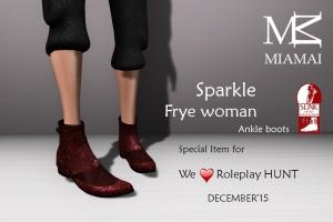 Miamai_FryeWoman AnkleBoots - WLRP HUNT #37 (female Slink flat)