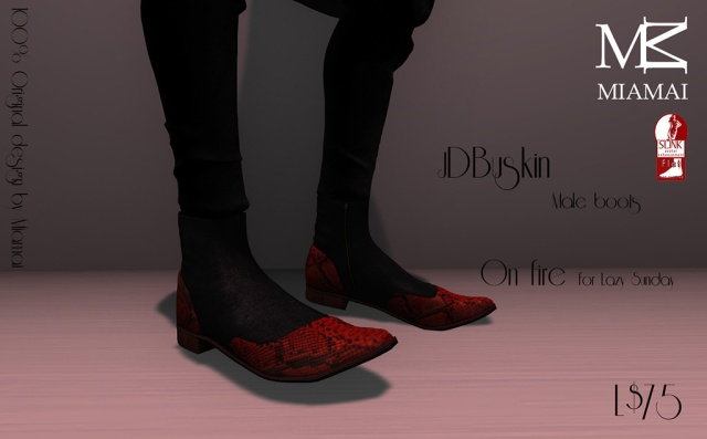 Miamai_JD Buskin male boots - On fire (Male Slink flat) Lazy Sunday [613286]
