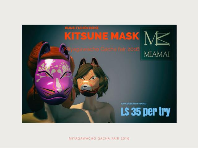 Miamai_Kitsune mask_Miyagawacho Gacha fair 2016-Main AD [416042]