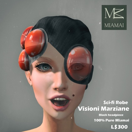 Miamai_VisioniMarziane_Sci-fi Robe_Black headpiece AD [416027]