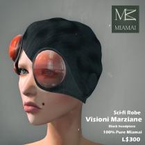 Miamai_VisioniMarziane_Sci-fi Robe_Black headpiece AD2 [416028]