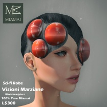 Miamai_VisioniMarziane_Sci-fi Robe_Black headpiece AD3 [416029]