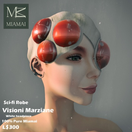 Miamai_VisioniMarziane_Sci-fi Robe_White headpiece AD3 [416032]